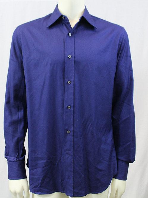 Roberto Cavalli Blue Dress Shirt Large