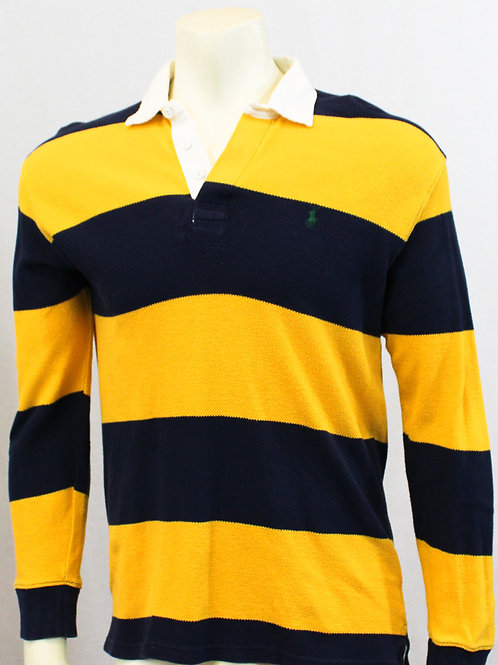 Ralph Lauren Rugby Long Sleeve Yellow/Navy Stripe Small