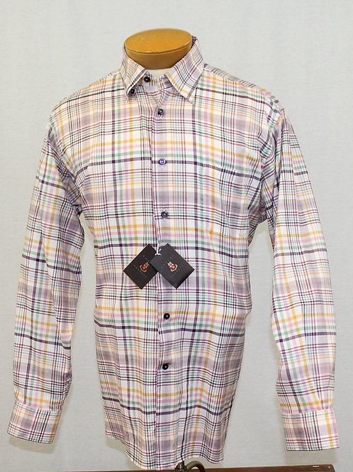 Robert Talbott Multi Color Classic Sport Shirt Large