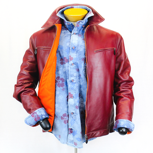 Hermès Red Lambskin Coat