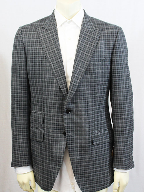 Tom Ford Gray Check Sport Coat 44 Regular