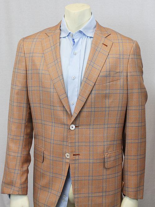 ISAIA Napoli Sport Coat Tangerine 44 Regular