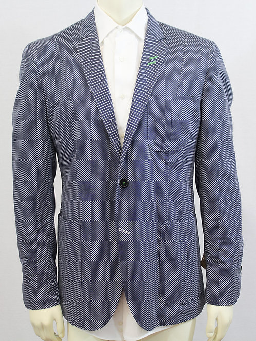 Bogosse Blue Polka Dot Sport Coat 44 Regular