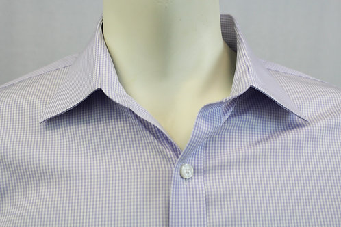 Michael Kors Lavender Check Dress Shirt Large