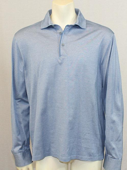 Ermenegildo Zegna Blue Long Sleeve Shirt Large