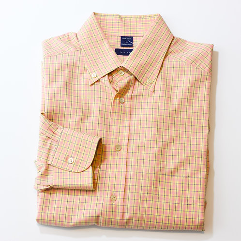 Jeff Rose Pink Plaid Large Shirt