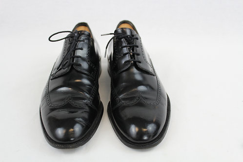 Bally Black Oxford Wingtip Shoes 11