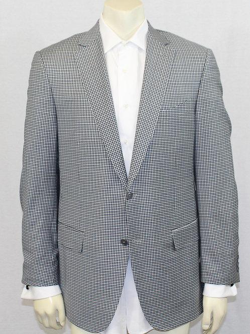 Ermenegildo Zegna Grey Micro Check Sport Coat 44 Regular