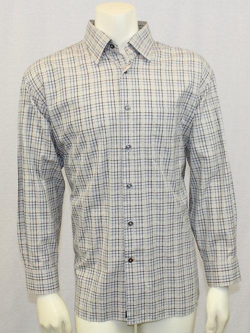 Robert Talbott Grey Check Long Sleeve Dress Shirt