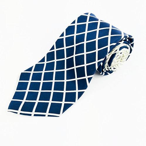 Tommy Hilfiger Blue Check Silk Tie