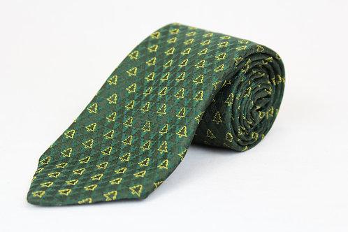 Zegna Green Christmas Tie