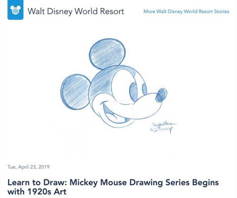 Learn to Draw: Mickey Mouse Drawing Series Begins with 1920s Art
