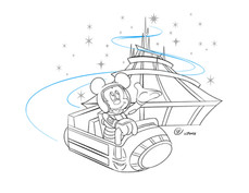Mickey in Parks - Space