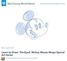 Learn to Draw: 'Pie-Eyed' Mickey Mouse Wraps Special Art Series