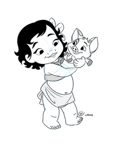 "Moana in the ""Animator's Collection"" Style"
