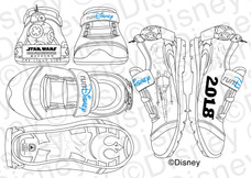 runDisney 2018 Star Wars Half Marathon – The Dark Side Merchandise. I did the Concepts and sketches for the product, as well as the color styling. All concepts, production images, and final products shown are ©Disney.
