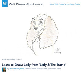 Learn to Draw: Lady from 'Lady & The Tramp'