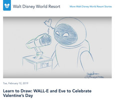 Learn to Draw: WALL-E and Eve to Celebrate Valentine's Day