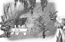 Quick rough storyboard for China attraction. © EagleVision Entertainment Studio