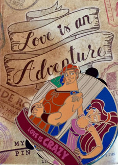 Love is an Adventure series pin trading pin. I did the the concepts and color styling to final product. All concepts, production images, and final products shown are ©Disney.
