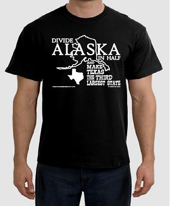DIVIDE ALASKA IN HALF... - Black