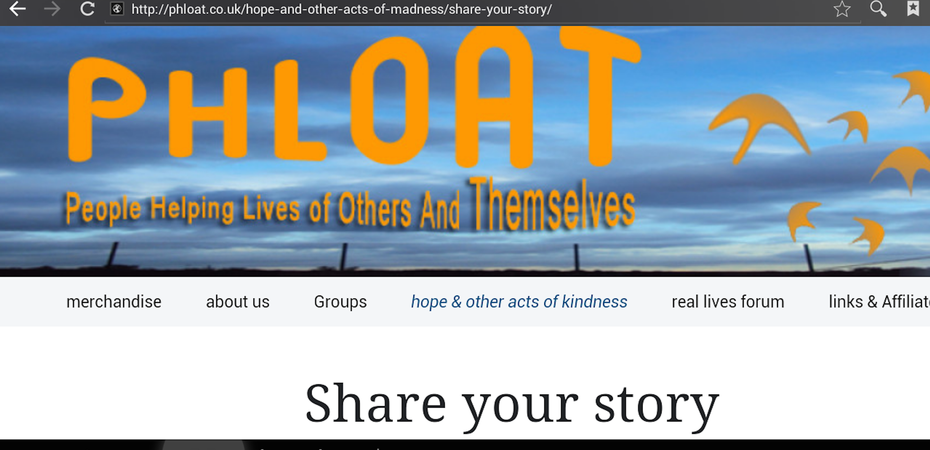 PHLOAT.co.uk People Helping Lives of Others And Themselves