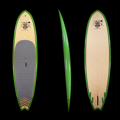 9'Rocket Fish Surf SUP Stand Up Paddleboard Surfboard Green Rail Bamboo with Bag