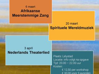 Ria Heemskerk en Cora van der Sar geven 3 nieuwe zangworkshops