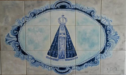 Nossa Senhora Aparecida azul
