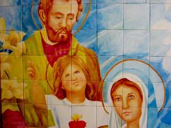 Painel em Azulejos sagrada familia