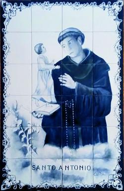 Painel em Azulejos santo antonio
