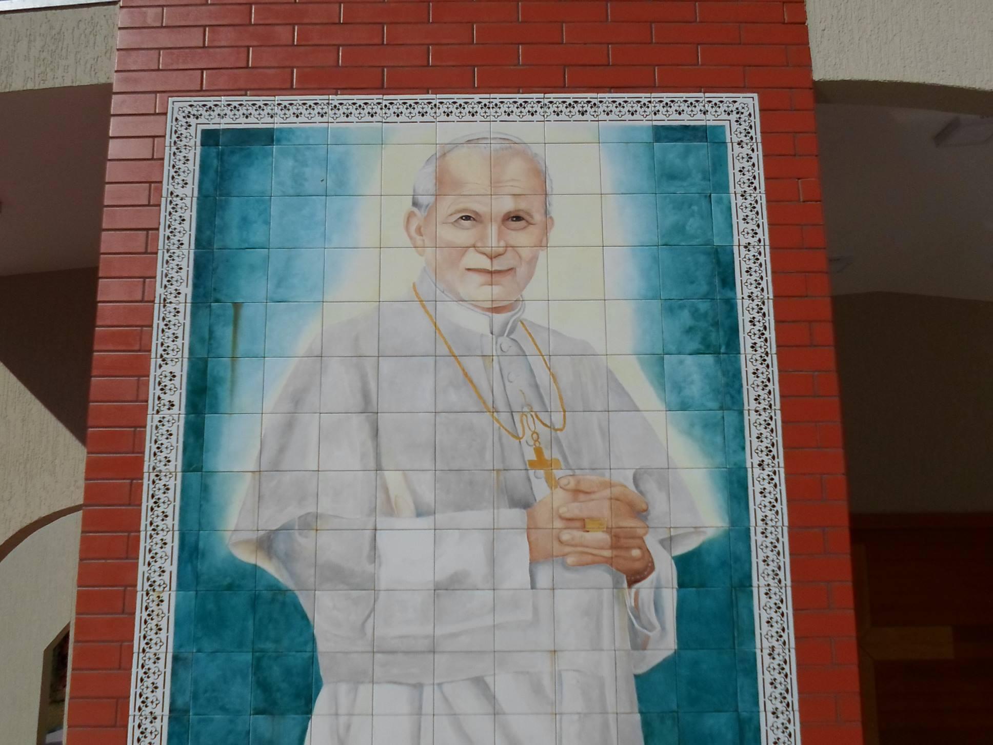 painel azulejos joao paulo II