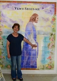 paineis em azulejos, pintura sobre azulejos, pintura sacra, paineis sacros