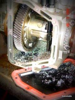 Diferencial do 01M destruído por falta de lubrificação.