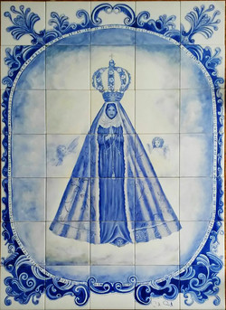 Painel em Azulejos N. senhora-azul
