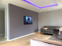 Living room with LED fitting