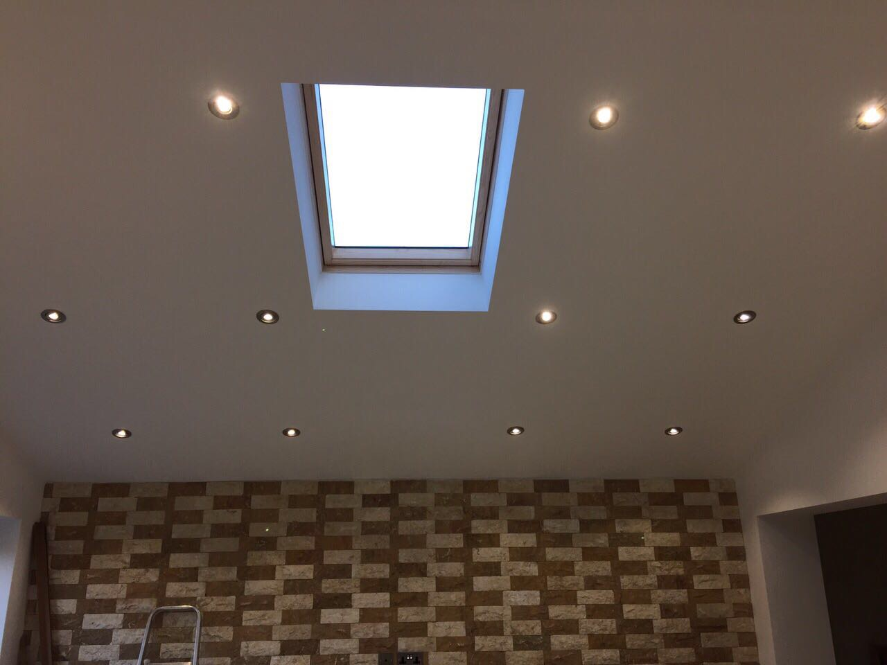 Skylight with spot lights
