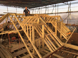 New roof timbers