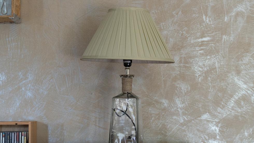 Lampe bouteille avec abat jour
