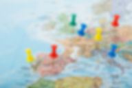 Europe Map pins travel for your planning