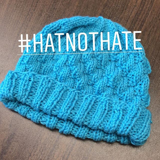 Look at this cute hat! Knit up using our