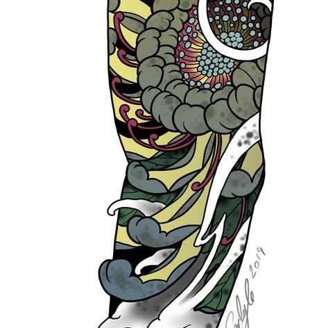 Chrysanthemum sleeve