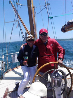 Donna and HalseyHerreshoff on Rugosa