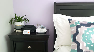 Purify Bedstand with plant and pillow.jp