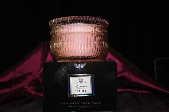 Tiaes Beaded Glass Candle
