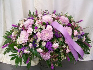 Lavender Casket Cover