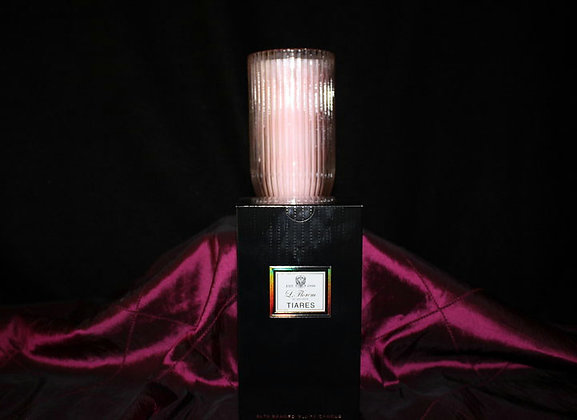 Tiares Beaded Glass Candle