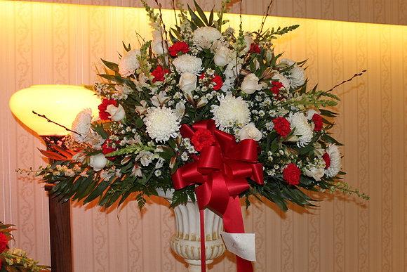 Red & White Urn