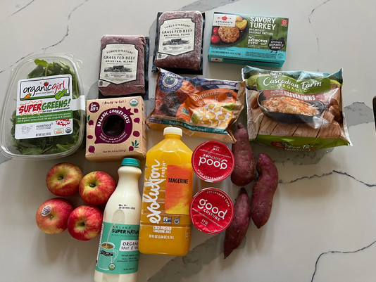 Simple Grocery Haul For 1 on a Budget (under $65)