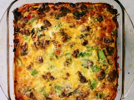 Hash-brown Crusted Egg Casserole